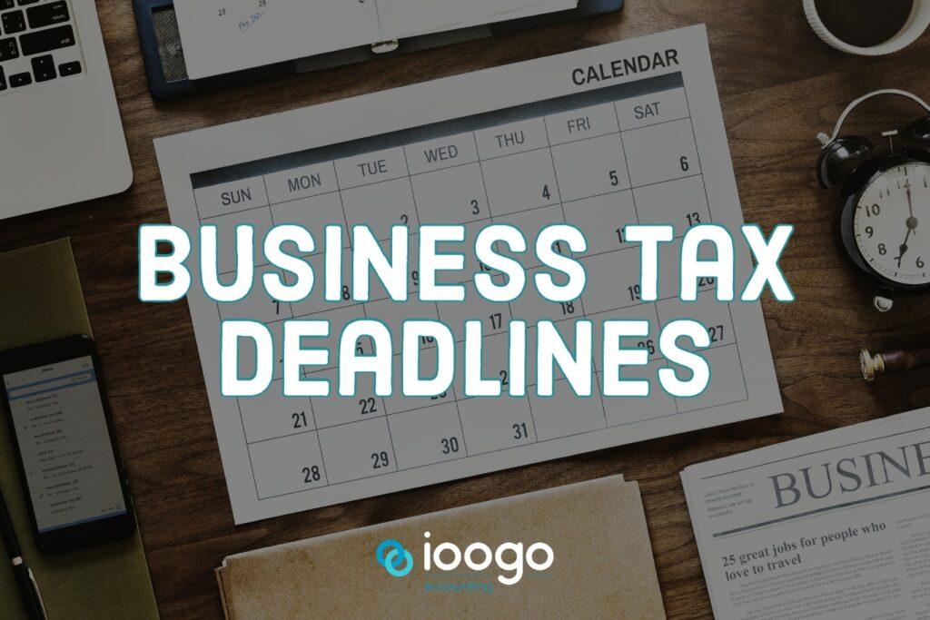 business tax deadlines